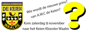 Prinsenwisseling De Keien @ Het Klooster Waalre | Waalre | Noord-Brabant | Nederland