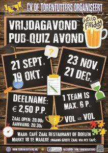 Pubquizzz! @ Cafézaal Restaurant de Doelen | Waalre | Noord-Brabant | Nederland