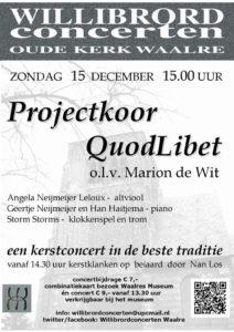 Projectkoor Quod Libet @ Oude Willibrorduskerk | Waalre | Noord-Brabant | Nederland