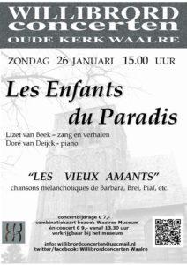 Het Franse chanson en de melancholie @ Oude Willibrorduskerk | Waalre | Noord-Brabant | Nederland