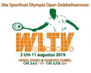 26e Sporthuis Olympia Open Dubbeltoernooi @ WLTV | Waalre | Noord-Brabant | Nederland