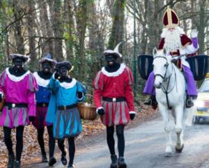 Sinterklaas rondgang @ 1e deel dorp   Waalre   Noord-Brabant   Nederland